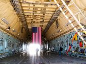 Cargo Hold of Lockheed C-5 Galaxy aircraft