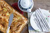 Freshly Baked Turkish Borek Ready For Serving