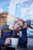 Pretty Girl Drinking Coffee