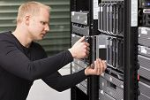 IT Consultant install a new Blade Server