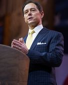NATIONAL HARBOR, MD - MARCH 7, 2014: Conservative political activist Ralph Reed speaks at the Conser