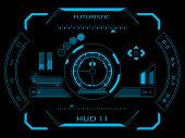 foto of hologram  - Futuristic blue virtual graphic touch user interface HUD - JPG