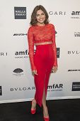 NEW YORK-FEB 5: Model Alyssa Miller attends the 2014 amfAR New York Gala at Cipriani Wall Street on