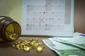 Control Pills On A Calendar