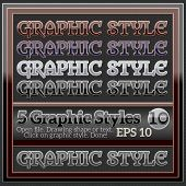 Set of Beautiful Glossy Colorful Graphic Styles.