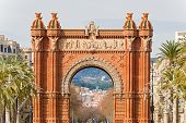 The Arch De Triumph In Barcelona, Spain.