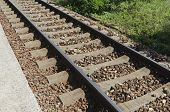 Close view of railway track