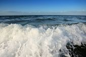 picture of wallow  - Close up of sea waves who wallow - JPG