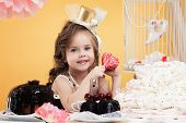 Portrait of beautiful little sweet tooth