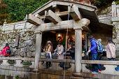 Otowa waterfall at Kiyomizu-dera Temple in Kyoto