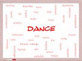 foto of jive  - Dance Word Cloud Concept on a Whiteboard with great terms such as music classes ballroom and more - JPG