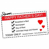 Happy Father's Day Coupon Concept