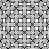 Design Seamless Monochrome Decorative Flower Pattern. Abstract Trellis Lacy Textured Background