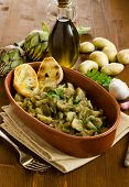 Artichoke and potato stew