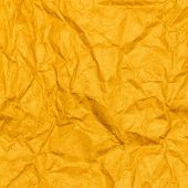 Crumpled Recycled Paper Background Texture. Vintage Craft Paper Texture Yellow Color. Paper For Pack