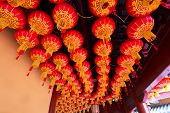Wuxi,China-February 5,2014: Lanterns on ceiling in wuxi,china on February 5,2014.