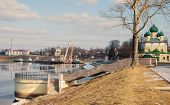 image of uglich  - Embankment of the Volga River - JPG