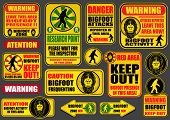 stock photo of bigfoot  - Bigfoot Signs Collection - JPG
