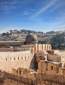 stock photo of aqsa  - The ancient walls of Jerusalem - JPG