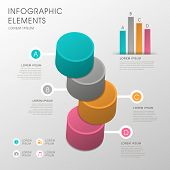 Abstract Cylinder Infographics