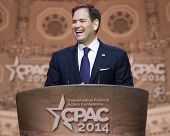 NATIONAL HARBOR, MD - MARCH 6, 2014: Senator Marco Rubio (R-FL) speaks at the Conservative Political
