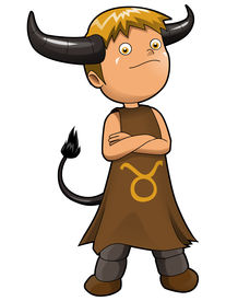 stock photo of chibi  - Cartoon style illustration of zodiac symbol - JPG
