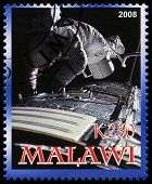 Apollo 17 Postage Stamp From Malawi