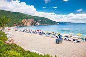 Beautiful Lichnos beach near Parga village, Greece.