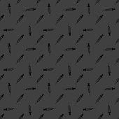 Syringe web icon. flat design. Seamless gray pattern.