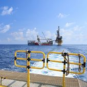 stock photo of  rig  - Tender Drilling Oil Rig  - JPG