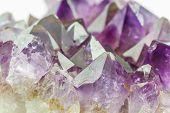 Crystal Stone, Purple Rough Amethyst Crystals.