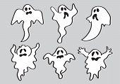 Cartoon Halloween White Ghost