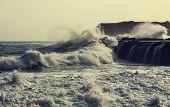 storm on Pacific ocean