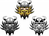 pic of viking  - Ancient angry viking warrior as a mascot or tattoo - JPG