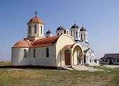 Orthodox Monastery Codru With Two Churches,  Near Tulcea , Romania