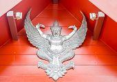 Thai Lanna Garuda Lacquer Work Silver
