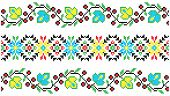 embroidered good like handmade cross-stitch ethnic Ukraine pattern. flowers background