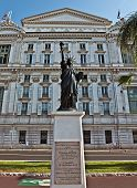 picture of nice house  - Front facade of the Opera house with statue of Liberty in city of Nice France - JPG
