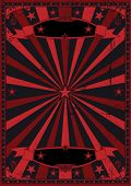 Black and red grunge background. A dark and retro grunge background for a poster