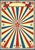 Patriotic retro sunbeams background. A vintage and retro grunge background for a patriotic poster