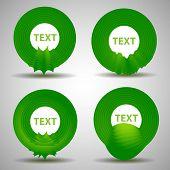 Abstract Speech Bubble Design Set