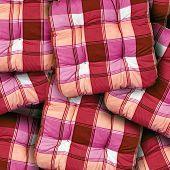 Plaid Red Cushions