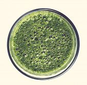 Spinach drink on a white background