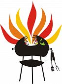 Fire Breathing Bbq Charcoal Grill God Monster