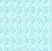 moroccan pattern vector blue