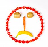 Sad Face from fruit and vegetables