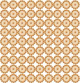 Luxurious Wall-papers With Round Brown Patterns