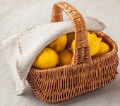 Basket With Lemons