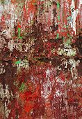 Grunge background in red and rusty colorful texture