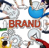 Brand Name Trademark Identity Branding Diverse People Concept